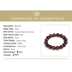 Image 5 - JD Classic 4 18MM Natural Stone Prayer Beads Tiger Eye Bracelet Handmade Red Brown Natural Stone Braclet For Men Yoga Jewelry