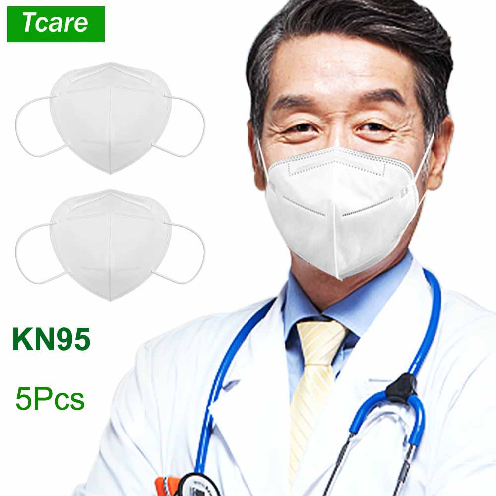 Tcare 5Pcs/Lot KN95 Medical Mouth Mask Safety Protective Mask Anti Dust