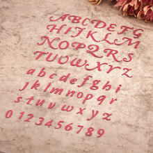 Металлические буквы алфавита для скрапбукинга и фото