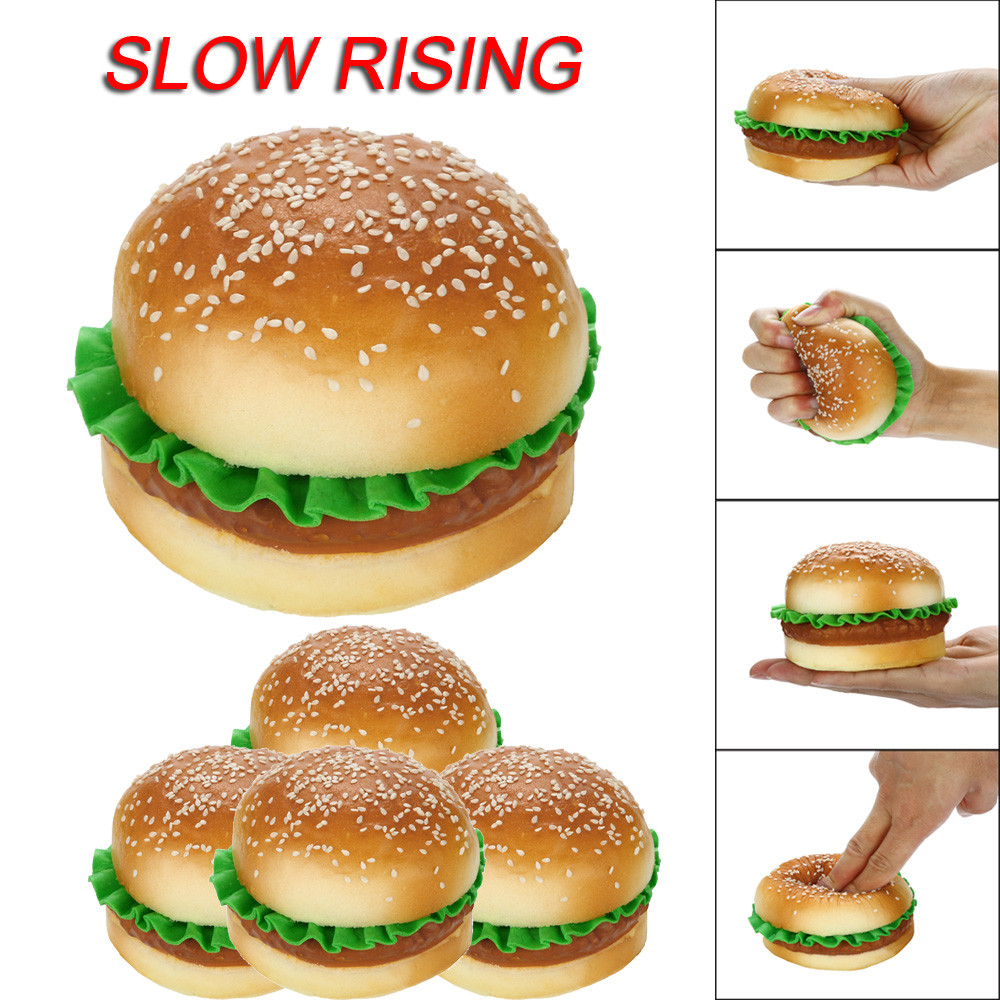 Sesame Hamburger Scented Squishies Slow Rising Kids Toys Stress Relief Toy Kids Toys Toys For Children Juguetes De Descompresion