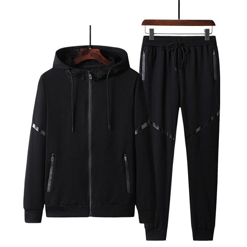 Новые мужские спортивные комплекты, повседневная Весенняя хлопковая одежда, мужской модный спортивный костюм с капюшоном, пальто на молнии...