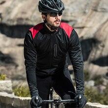 Мужские куртки Santic для велоспорта, ветровка, ветрозащитная Светоотражающая куртка, сохраняющая тепло, черная, весна, осень, зима, одежда для велоспорта KC6104R