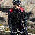 Santic Männer Radfahren Jacken Windjacke Winddicht Reflektierende jacke Warm Halten Schwarz Frühling Herbst Winter Zyklus Kleidung KC6104R-in Fahrrad Jacken aus Sport und Unterhaltung bei