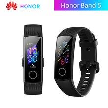 Honor Band 5 wersja globalna inteligentny zespół wodoodporny wyświetlacz AMOLED Fitness Sleep Tracker inteligentny zegarek bransoletka z tlenem krwi