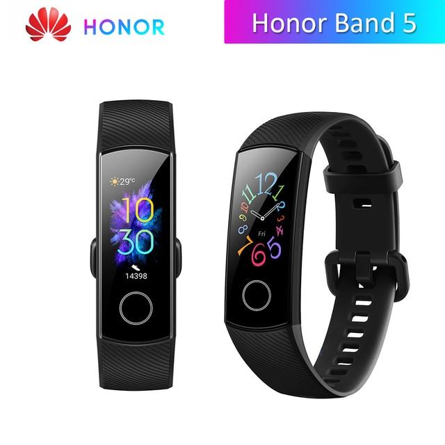 Huawei Honor Band 5 Version mondiale bande intelligente étanche AMOLED affichage Fitness sommeil Tracker sang oxygène Bracelet intelligent montre