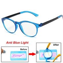 Optical-Frame Eyeglasses Light-Blocking Anti-Blue Kids Lenses Clear Children Boy UV400