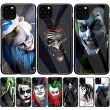 Dark Knight Joker Karta Tempered Glass Case For iPhone 12 Mini 11 12 Pro Max XS XR X 7 8 Plus 5 5S SE 2020 Silicone Cover