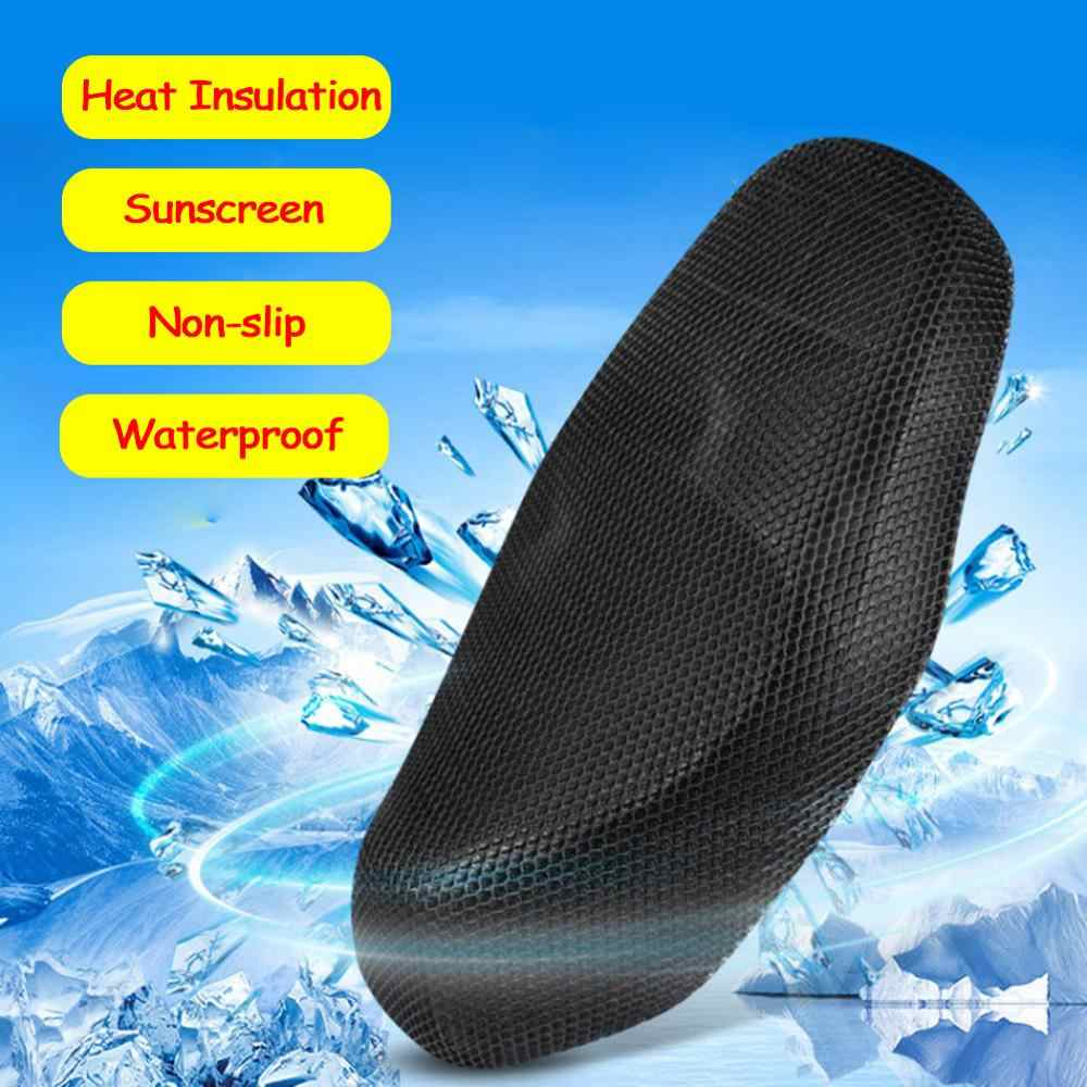 Motorcycle Seat Cushion Cover L/XL/XXL Net Anti-slip 3D Mesh Protector Insulation Cushion Cover Motorcycle Seat
