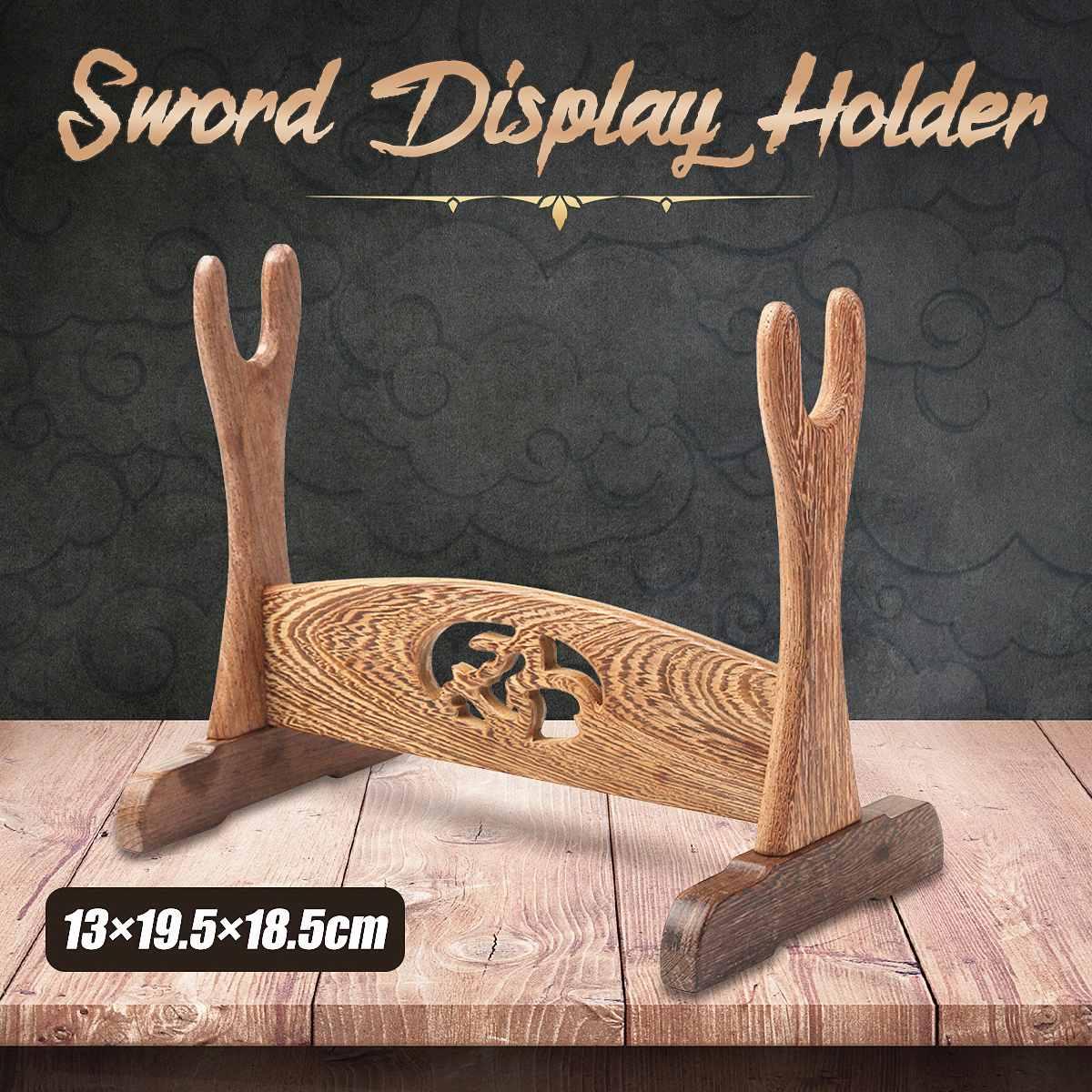1pcs Japanese Samurai Sword Wenge Wood Wall Mounted Home Desk Decoration Stand Samurai Katana Holder Rack Holder Bracket Display