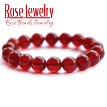 Free Shipping Natural Red Agates Bracelet Stone Bracelet: 4mm To 12mm DIY Jewelry For Gift Women and Men