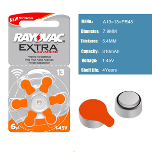 Image 3 - Hearing Aid Batteries 30 PCS/5 cards RAYOVAC EXTRA A13/PR48/S13 Zinc Air batterie 1.45V   Size 13 Diameter 7.9mm Thickness 5.4mm