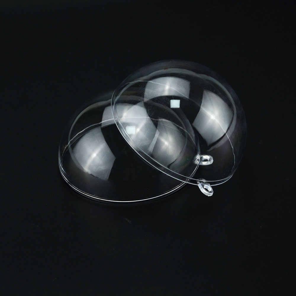 1 Uds. 2-9cm Bola de decoración de regalo ornamental de adorno transparente de plástico transparente con bola de decoración para árbol de Navidad
