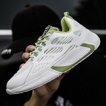 Men Breathable Sports Shoes Male Vulcanize Mesh Slip- Flat-Soled Walking Running Sneakers Casual Laceup Shoes Mens Leisure Shoes