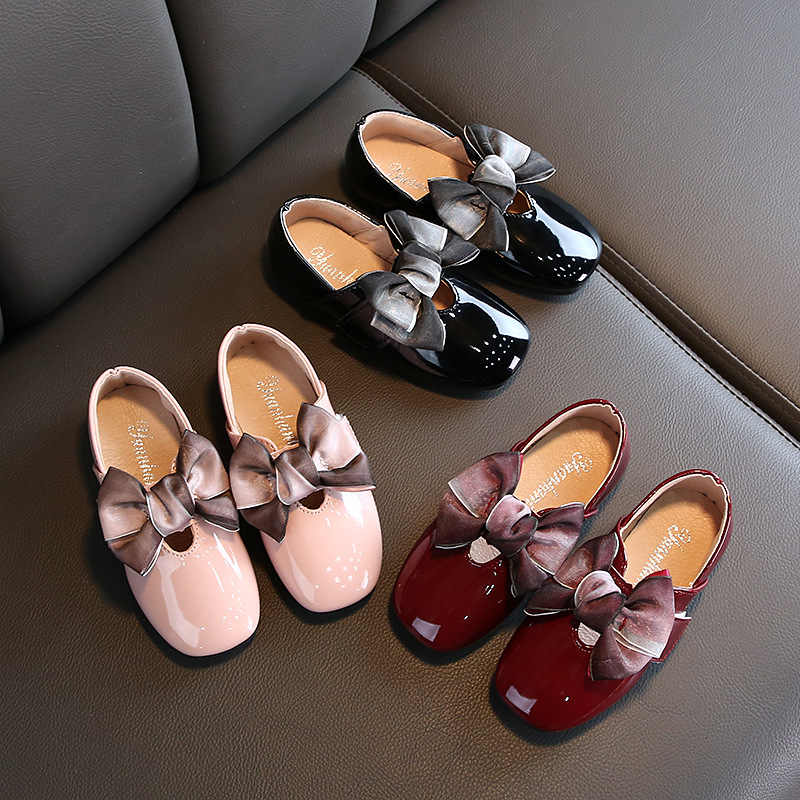2019 yeni yay kız deri ayakkabı okul için sonbahar parti büyük çocuklar prenses düğün çocuk ayakkabıları 3 4 5 6 7 8 9 10 11 12 yıl