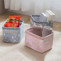 Foldable Storage Basket Storage Bin Closet Toy Box Container Organizer Fabric Basket Home Desktop Storage Baskets Bags|Storage Boxes & Bins| |  -