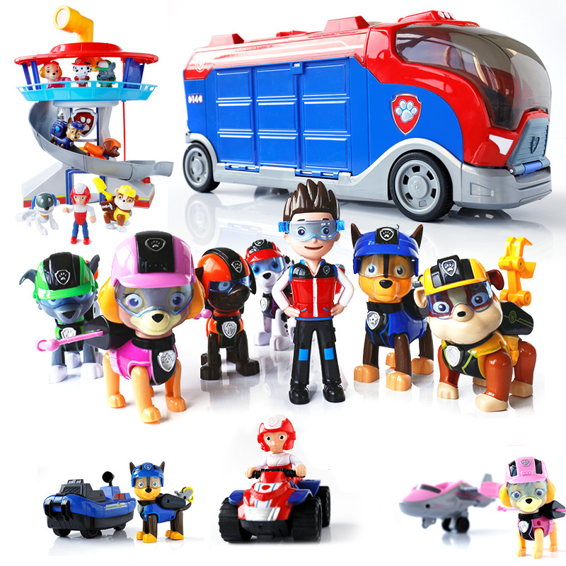 Paw Patrol Toys Set Dog Mobile Rescue Big Bus Puppy Paw Patrol Birthday Deformation Children's Toy Christmas Gifts