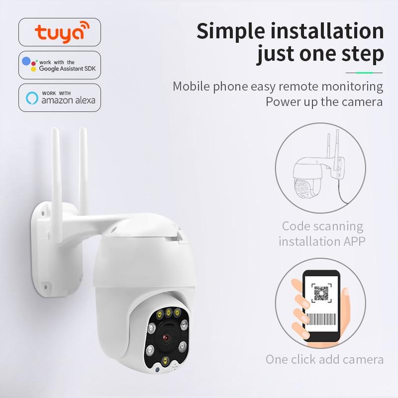 NEW Infrared Night Vision Network Surveillance Camera 360 Rotate 1080P HD Camera Indoor Outdoor Wifi Camera TUYA Smart Life 2020