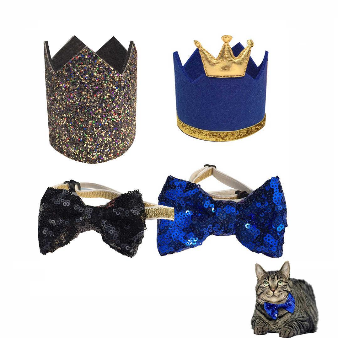 كلب القطط طوق عيد ميلاد أغطية الرأس قبعات قبعة ديكور حفلات للكلاب المتوسطة الصغيرة عيد الميلاد حفلة الحيوانات الأليفة اكسسوارات