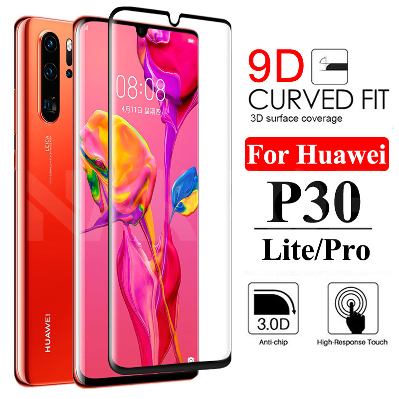 9D Protective Glass On The For Huawei P30 P20 Pro P20 P10 Lite Plus P Smart 2019 Safety Screen Protector Tempered Glass Film
