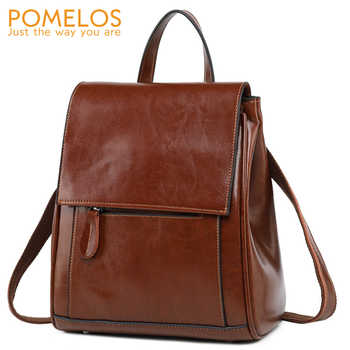 POMELOS Fashion Backpack Women Split Leather Travel Woman Backpack Designer Rucksack Women Back Pack Female Backpack Ladies Bag - DISCOUNT ITEM  52 OFF Luggage & Bags