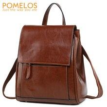 POMELOS Fashion Backpack Women Split Leather Travel Woman Backpack Designer Ruck