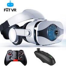 Fiit vr 5f versão fone de ouvido ventilador refrigeração óculos realidade virtual 3d deluxe edição capacetes smartphones controlador opcional
