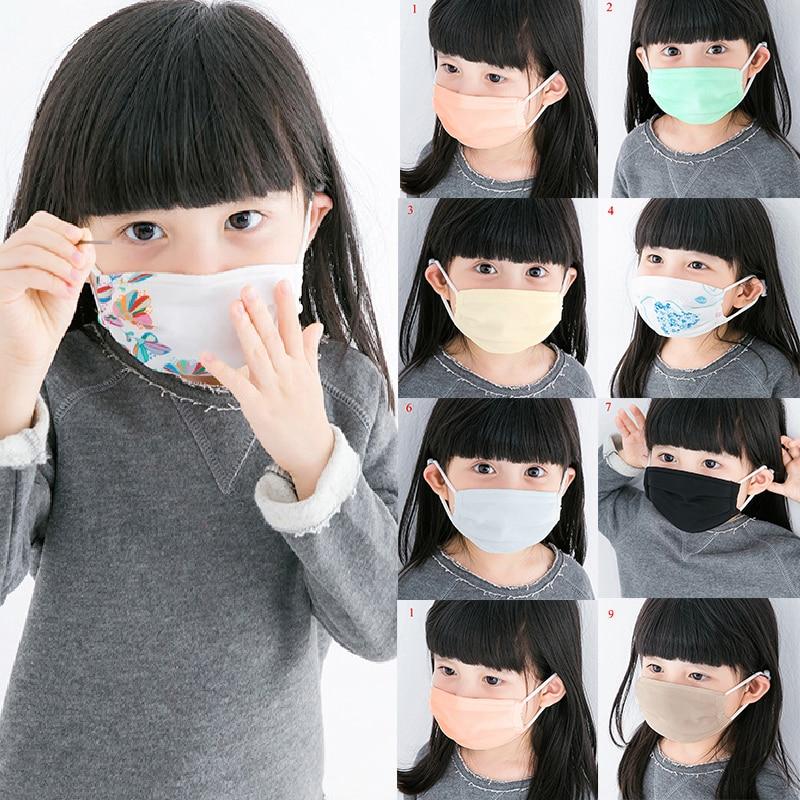 Children Summer Mouth Mask 100% Silk Sunscreen Masks Girls Boys Anti-Dust PM2.5 Pollution Mouth-Muffle Anti-UV Kids Mouth Mask