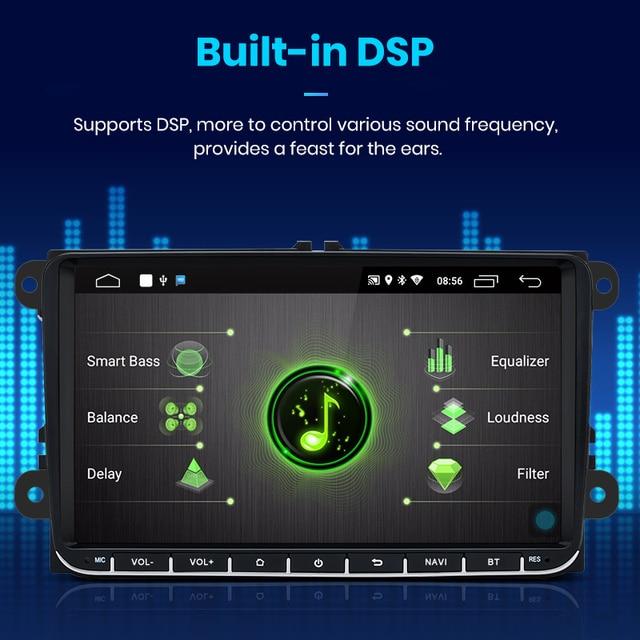 Junsun V1pro 2G+32G DSP Android9.0 Car Multimedia Player Radio GPS For Volkswagen VW Passat B6 Touran GOLF5 POLO jetta 2 din DVD