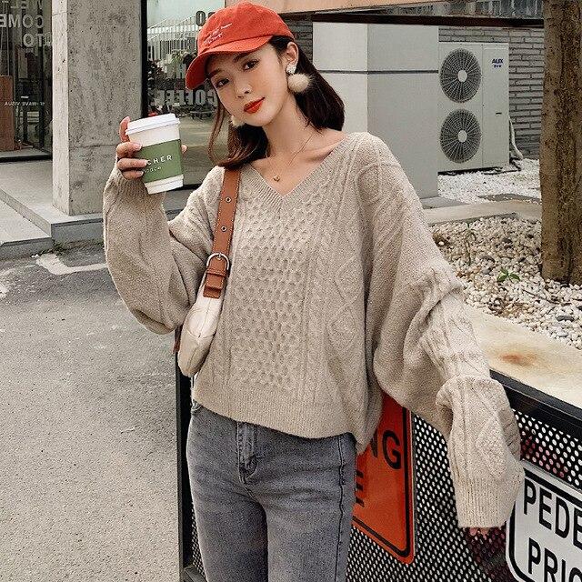 Nouveau pull femme pull femme ample vent paresseux femme col haut pull rouge