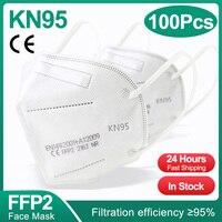 100PCS White FFP2