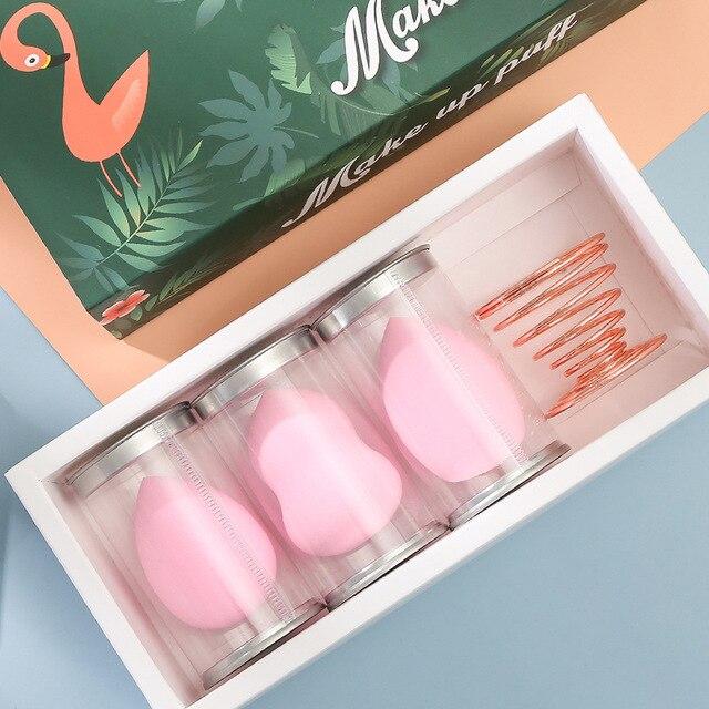 Hydrophilic Non-Latex Gourd Water Drop Powder Puff Cosmetic Egg Set Sponge Makeup Egg Set Beauty Tool Customizable 2