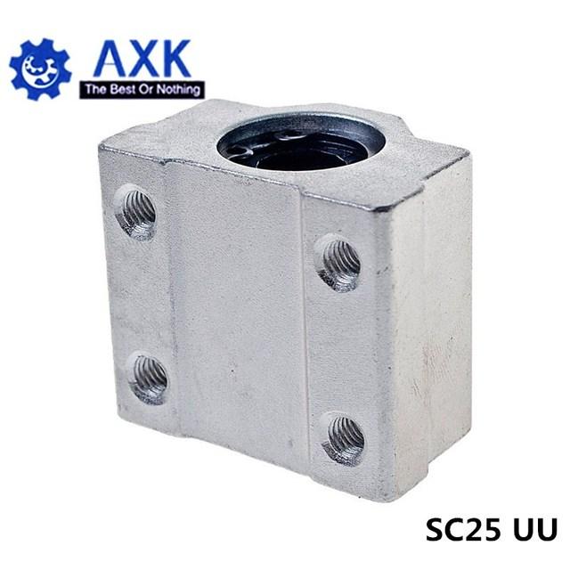 2 개/몫 SC25UU SCS25UU 25mm 선형 볼 베어링 블록 CNC 라우터 LM25UU 부시 베개 블록 선형 샤프트 CNC 3D 프린터 부품