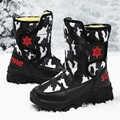 子供靴の冬のブーツ男の子ガールズボーイズ雪靴ティーンエイジャーボーイズウォームハイキング靴ボーイズ屋外スポーツ -スリップ靴
