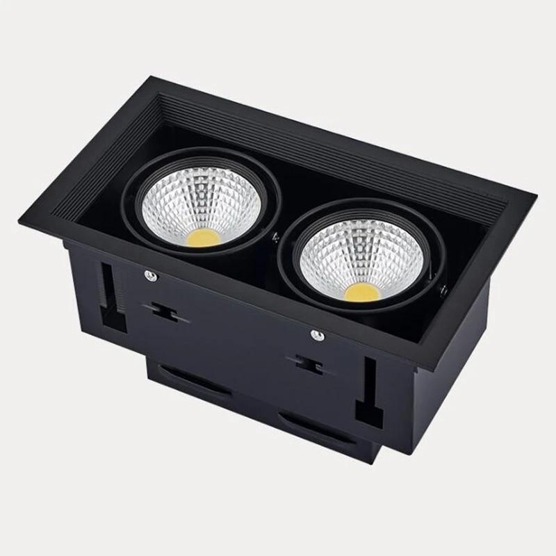 Trango MD 022B LED Ceiling spotlights Complete with 3/Watt LED Light Bulb 3000/K Warm White 2/Bulb//–/6/Watts