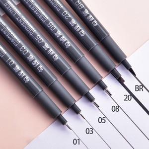Image 2 - 6Pcs/Set Waterproof Sketch Pigment Fine Liner Pen Needle Drawing Pen Professional Art Marker Micron Pen School Office Stationery