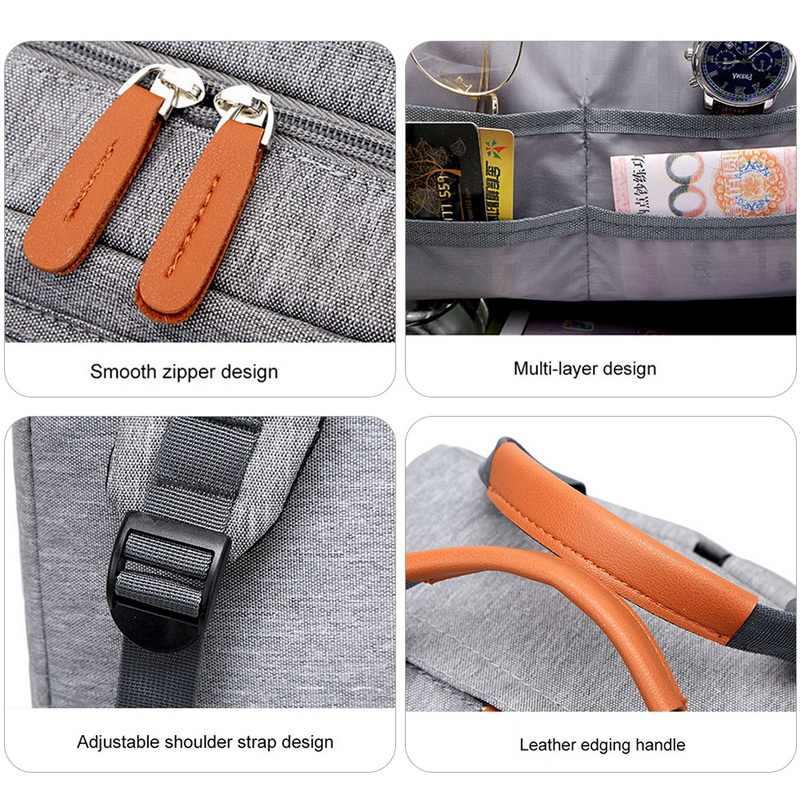 Erkekler çok fonksiyonlu Anti hırsızlık sırt çantası 15.6 inç dizüstü bilgisayar Usb şarj sırt çantası su geçirmez tuval okul çantası iş seyahat sırt çantası