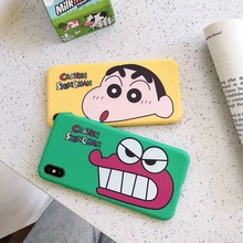 Simple funny Crayon Shin-chan phone case For iphone Xs MAX XR X 6 6s 7 8 plus Cute Dinosaur Couple Candy Soft TPU back Cover цена и фото