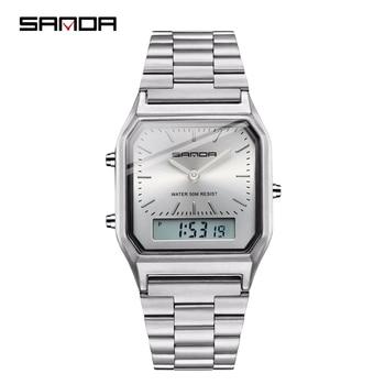 SANDA Military Sports Watches Waterproof Mens Watches Top Brand Luxury Clock Electronic LED Digital Watch Men Relogio Masculino
