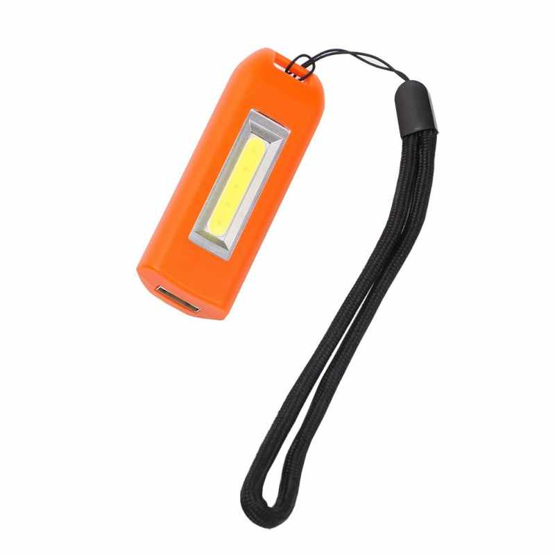 المحمولة LED USB قابلة للشحن مضيا الشعلة سلسلة مفاتيح صغيرة متعددة الوظائف COB مصباح صغير في الهواء الطلق أداة تخييم مصباح