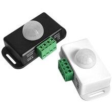 Strip Light Motion Sensor Switch  DC12V-24V Infrared Motion Sensor Detector Switch Timer for Cupboard Cabinet Kitchen Stairs