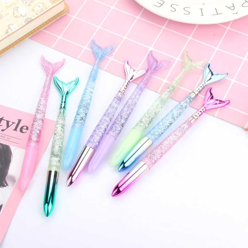 1 ชิ้นLytwtwน่ารักGELปากกาKawaiiเครื่องเขียนOffice School SupplyหวานMermaid GirlsสีQuicksandเกาหลีญี่ปุ่น