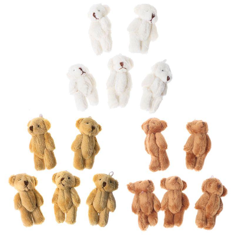 5 шт. милые маленькие Медвежата плюшевые мягкие игрушки, а перламутровый бархат куклы подарки мини мишка MAY7-A