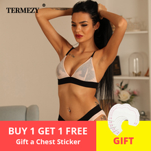 TERMEZY Women sexy Underwear ultra-thin Wireless Lingerie set Fashion Sexy bra push up brief sets lingerie female