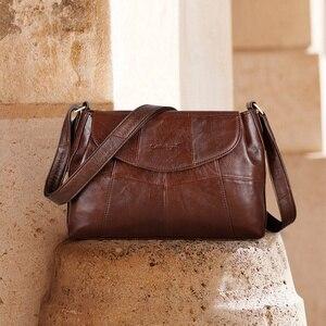Image 4 - Cobbler Legend 2020 Genuine Leather Women Messenger/Crossbody Bag Ladies Small Shoulder Bags Vintage Female Cowhide Satchels