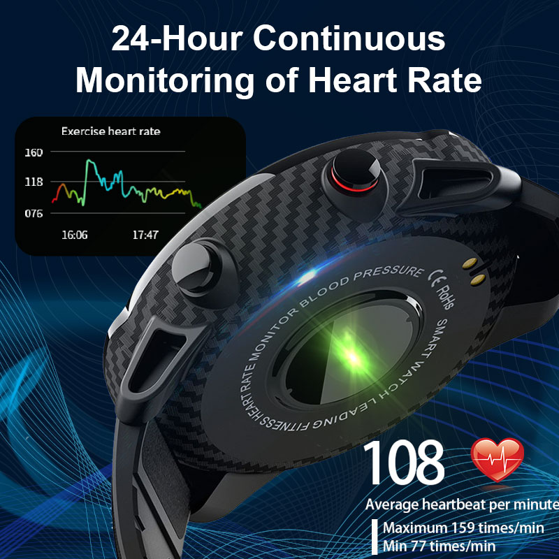 L3 Waterproof Smart Watch with Round Screen Heart Rate Pedometer and Call Message Reminder Smart Activity Tracker for Women Men 11