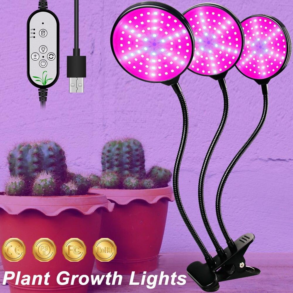usb led crescer luz 5v led crescer espectro completo de luz para plantas lampada aquario para