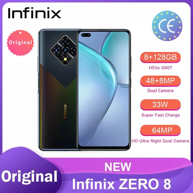 Infinix ноль 8 глобальная версия 128G 8G Оперативная память Octa Core 4 90 Гц 6,8