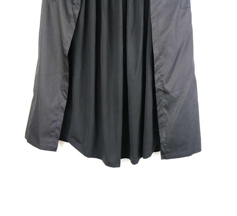 Плиссированная Женская юбка женская одежда 2019 карман 2019 Осенняя Элегантная Лоскутная винтажная хитовая цветная юбка для миноритета Новинка