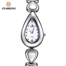 STARKING Brand Watch Quartz Relogio Feminino Fashion Women Crystal Stainless Steel Wristwatch Ceramic Swiss Movt Bracelet