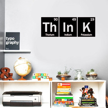 Think Periodic Table Vinyl Decal - Sticker- Elements Decoration Chemistry Classroom SK52